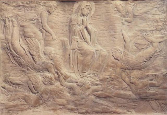 """Donatello, """"Assunzione della Vergine"""", 1426-28"""