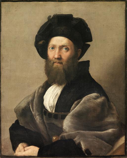 """Raffaello, """"Ritratto di Baldassarre Castiglione"""",1514-15"""