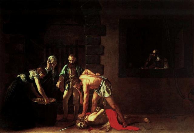 """Caravaggio, """"Decollazione di San Giovanni Battista"""", 1608"""