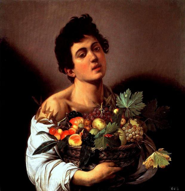 """Caravaggio, """"Fanciullo con canestra di frutta"""", 1593-94"""