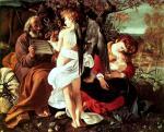 """Caravaggio, """"Riposo durante la fuga in Egitto"""", 1596"""
