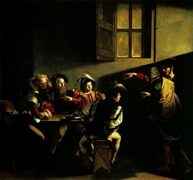 """Caravaggio, """"Vocazione di San Matteo"""", 1599-1600"""
