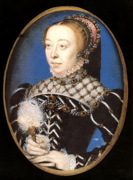 """F. Clouet, """"Ritratto di Caterina de' Medici"""", 1555"""