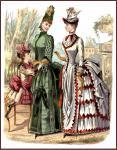 Figurino di moda del 1885