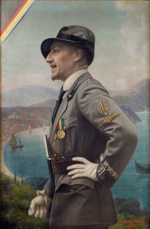 D'Annunzio in uniforme da Ardito