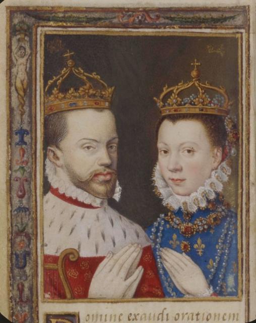 Filippo II di Spagna ed Elisabetta di Valois