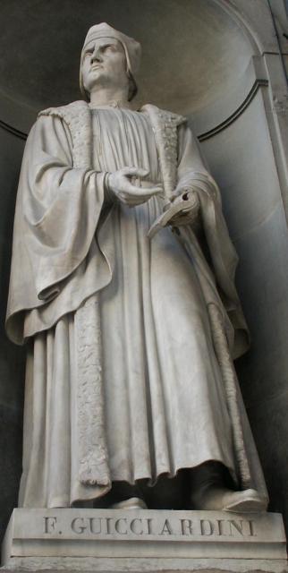 La statua di Guicciardini - Galleria degli Uffizi, Firenze