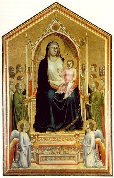 """Giotto, """"Maestà di Ognissanti"""", 1310 circa"""