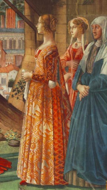 """Domenico Ghirlandaio, """"Giovanna Tornabuoni e la nutrice"""""""