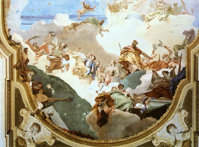 """Tiepolo, """"Apoteosi"""", Villa Pisani, 1761-62"""