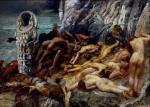 """Giulio Aristide Sartorio, """"Diana di Efeso e gli schiavi"""", 1895-1899"""