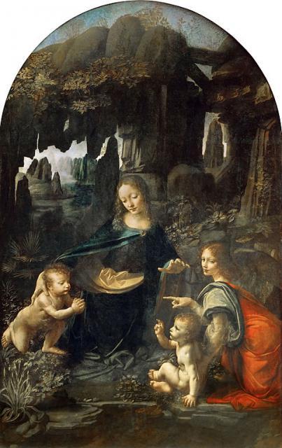 """Leonardo, """"Vergine delle Rocce"""", 1483-86"""