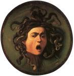 """Caravaggio, """"Scudo con testa di Medusa"""", 1597"""