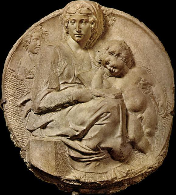 """Michelangelo, """"Tondo Pitti"""", 1503-04"""