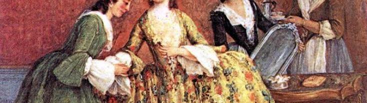 """Pietro Longhi, """"La mattina della signora veneziana"""", 1741"""