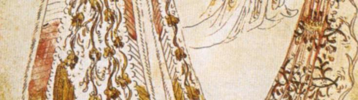 """Pisanello, """"Tra dame"""", disegno, 1433-1438 circa"""