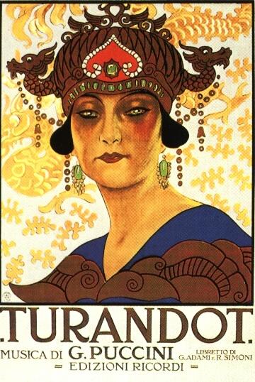 """Locandina della """"Turandot"""", 1926"""