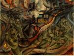 """Boccioni, """"Gli stati d'animo (serie I) - Gli addii"""", 1911"""