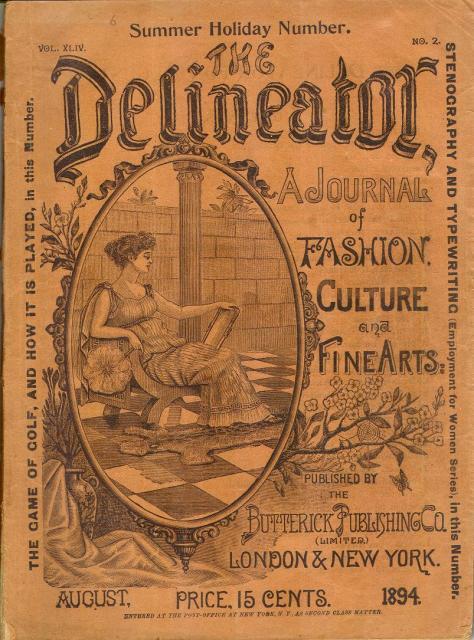"""Copertina di """"The Delineator"""", agosto 1894"""