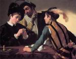 """Caravaggio, """"I bari"""", 1595"""