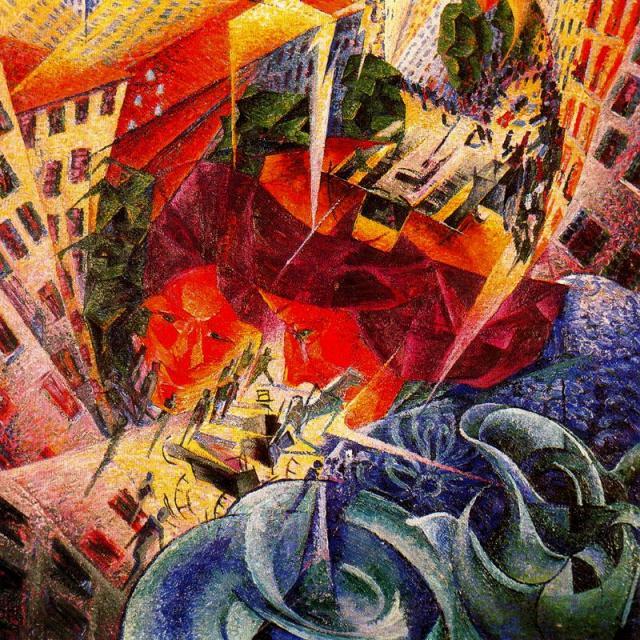 "Boccioni, ""Visioni simultanee"", 1911"