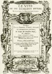 """Frontespizio del trattato """"Le Vite"""" di Giorgio Vasari"""