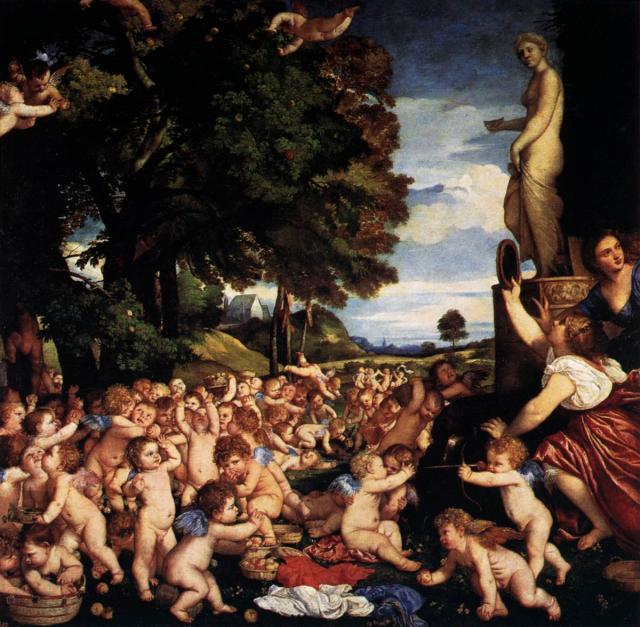 """Tiziano, """"Offerta a Venere"""", 1518-19"""