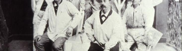 Decoratori biellesi a Chamonix, 1900