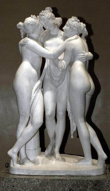 """Antonio Canova, """"Le Grazie"""", 1816"""