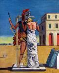 "Giorgio De Chirico, ""Pianto d'amore - Ettore e Andromeda"", 1974"