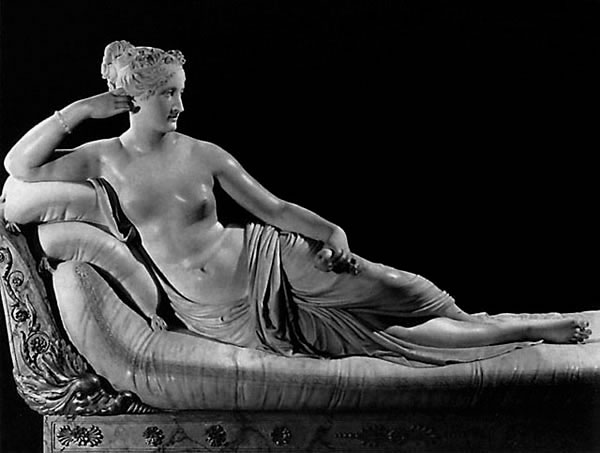 """Canova, """"Paolina Borghese come Venere Vincitrice"""", 1804-08"""