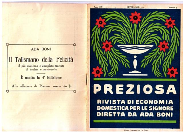 """""""Preziosa"""", la rivista di Ada Boni"""