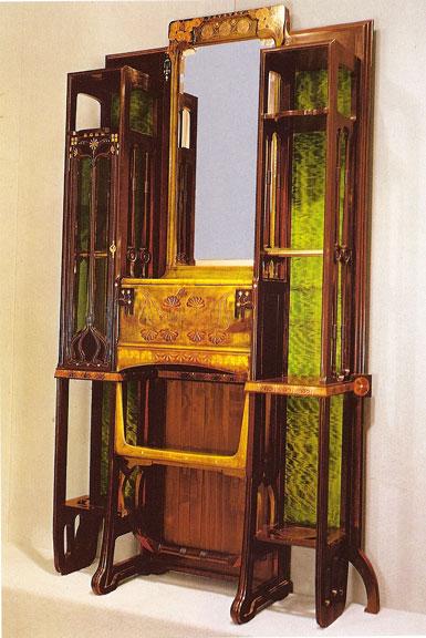 Eugenio Quarti, mobile da sala, 1900